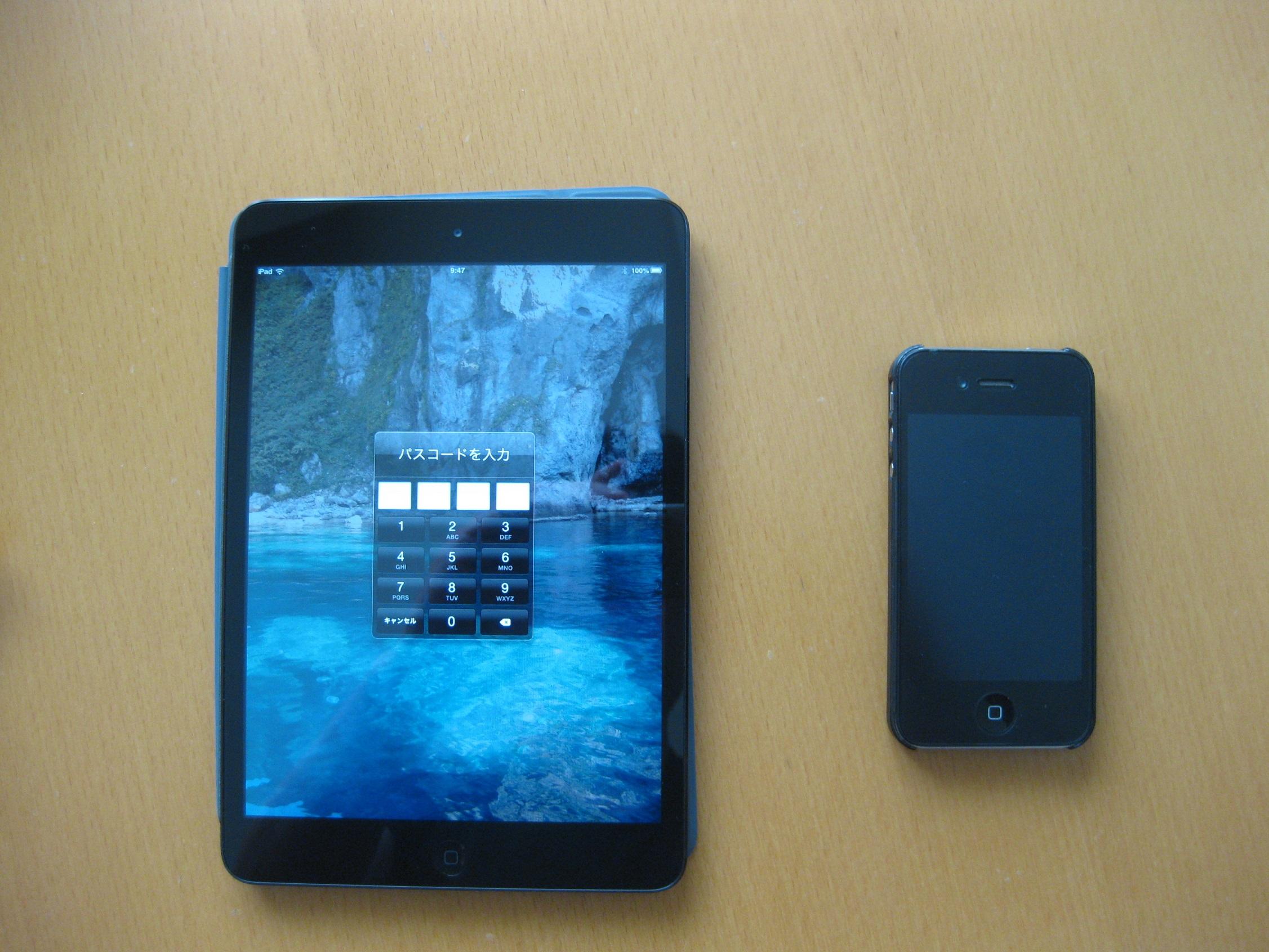 iPhoneとiPadmini